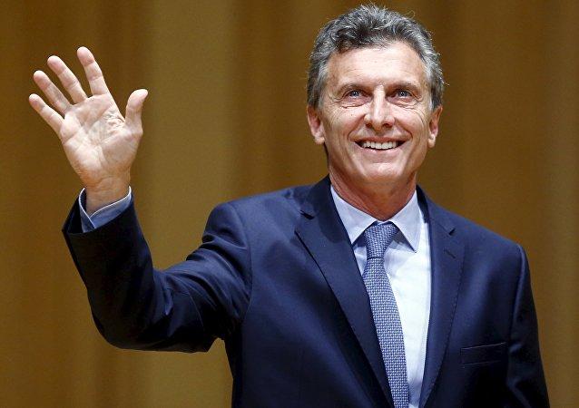 Presidente dell'Argentina Mauricio Macri