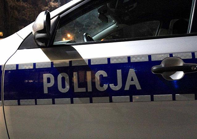 Macchina della polizia polacca