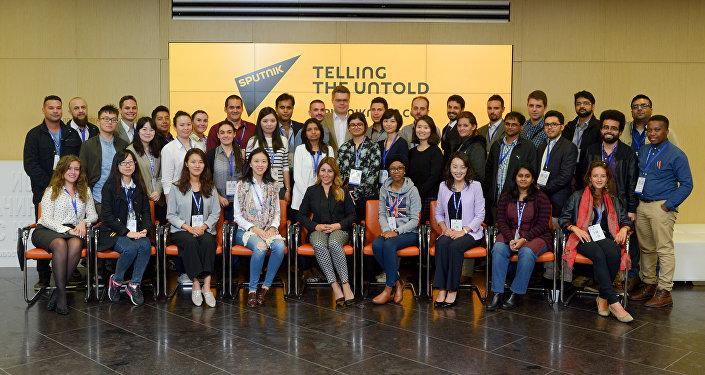 La scuola dei giovani giornalisti di Sputnik