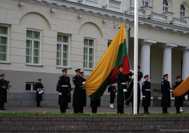 La bandiera della Lituania