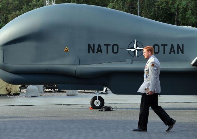 Un drone della NATO