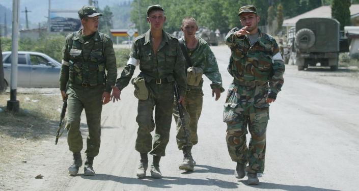 I militari russi nell'Ossezia del Sud.