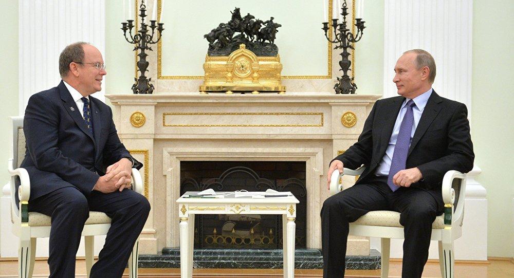 Incontro tra Vladimir Putin e il principe Alberto II di Monaco