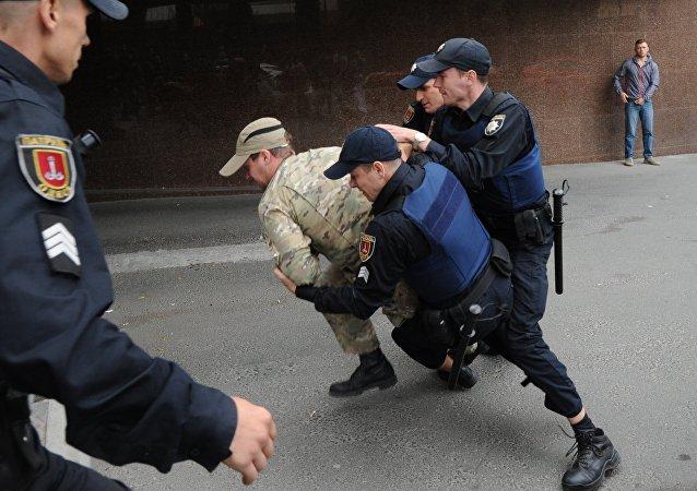 Polizia arresta nazionalista ucraini ad Odessa (foto d'archivio)