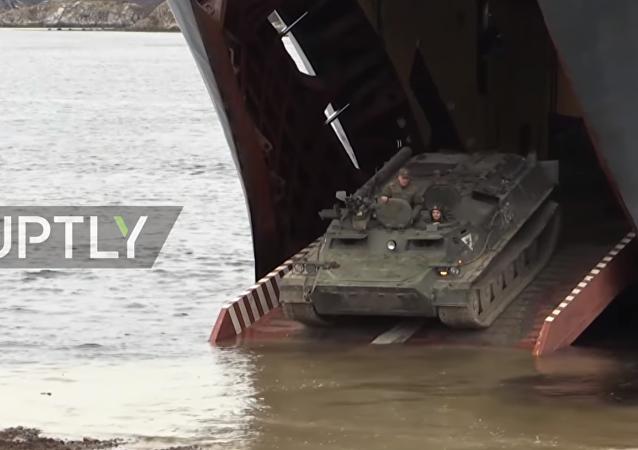 Le esercitazioni finali del viaggio di ritorno della Flotta del Nord russa