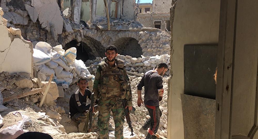 Soldati siriani ad Aleppo