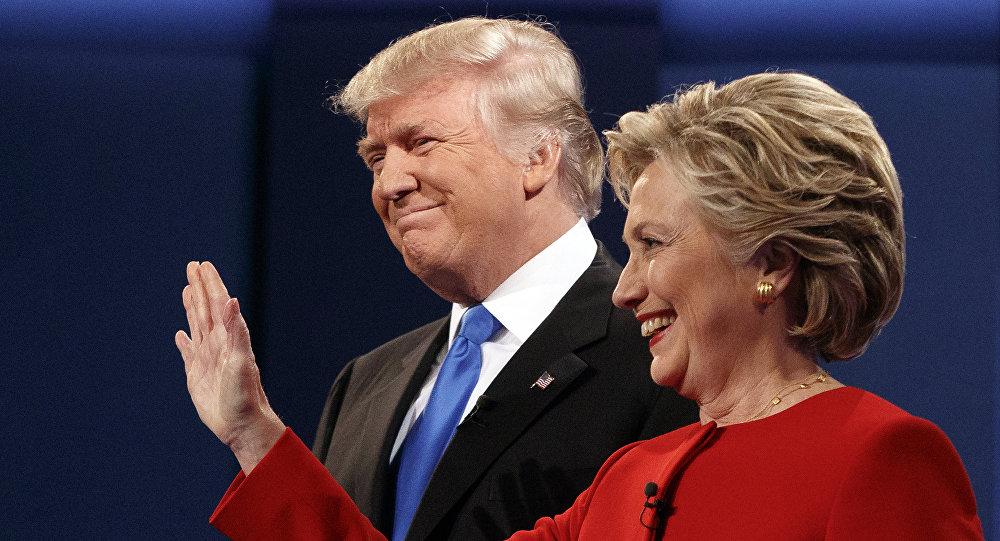 Hillary Clinton e Donald Trump durante i dibattiti