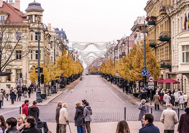 Una vista di Vilnius, la capitale lituana