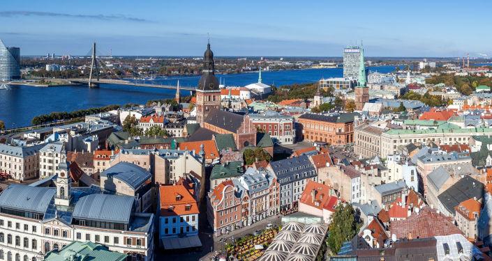 Una vista di Riga