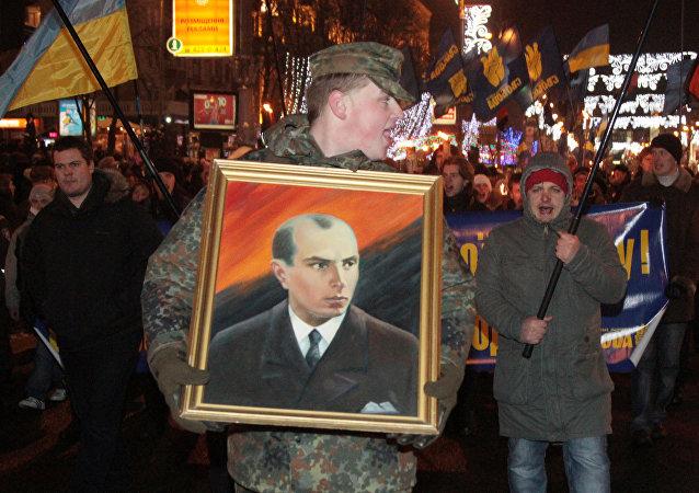 Nazionalisti ucraini a Kiev (foto d'archivio)