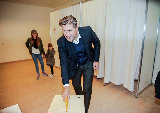 Leader dei conservatori islandesi Bjarni Benediktsson