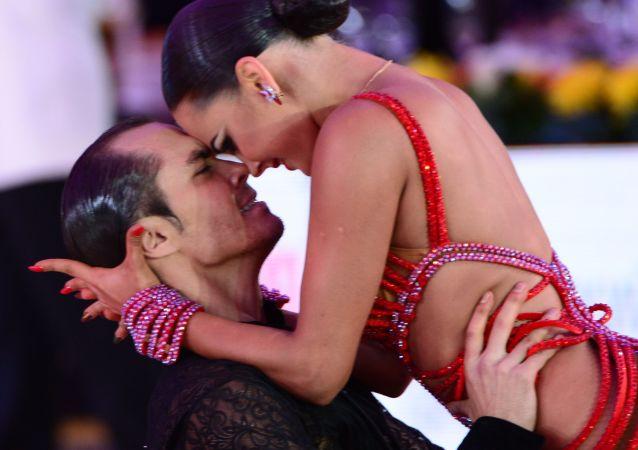 Mondiali di danze latino-americane al Cremlino di Mosca.