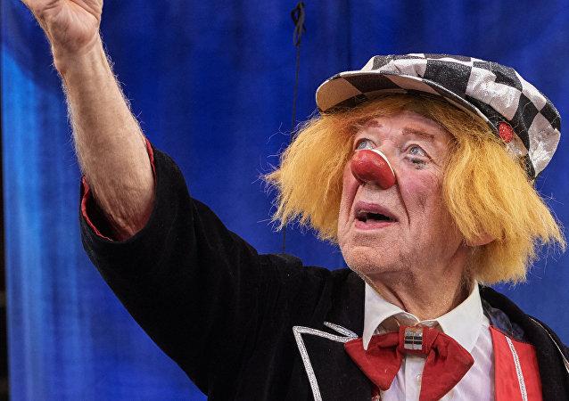 Il famoso clown russo Oleg Popov
