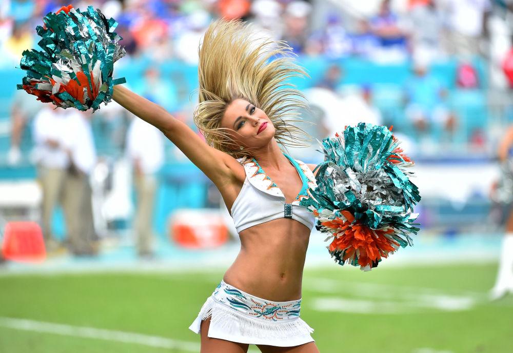 Cheerleader della squadra Miami Dolphins
