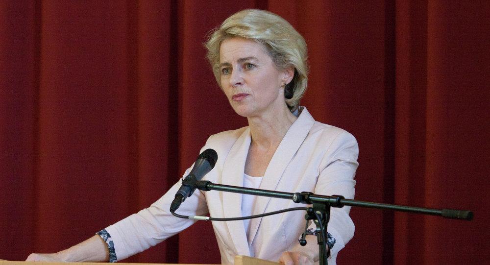 Verteidigungsministerin Deutschlands Ursula von der Leyen