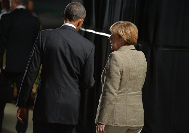 Barack Obama e Angela Merkel a Berlino