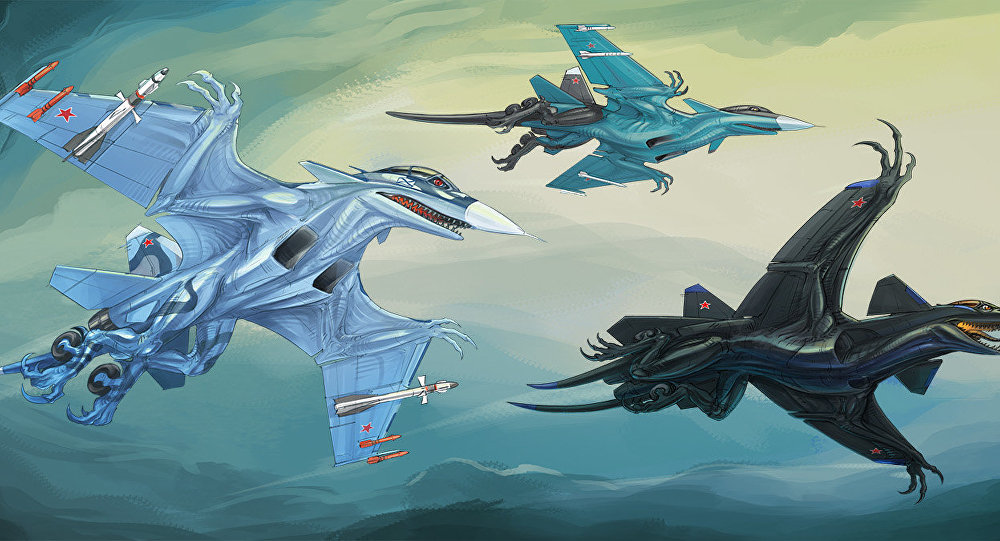 Aerosaur characters based on SU-33, SU-34 and SU-47