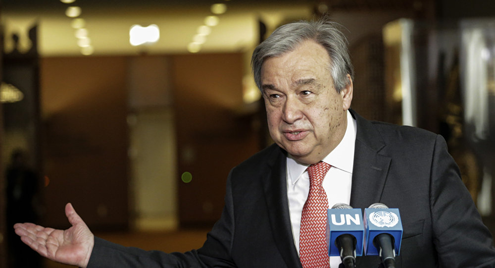 Antonio Guterres speaking at the UN headquarters in New York. (File)