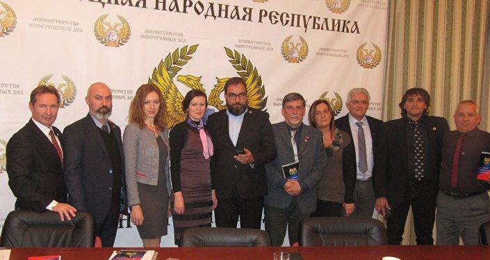 La delegazione degli imprenditori veneti a Donetsk