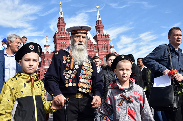 Il veterano sulla Piazza Rossa