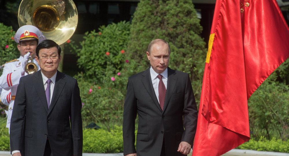 Vladimir Putin e il Presidente del Vietnam Truong Tan Sang