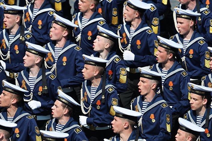 I cadetti dell` Accademia Navale Nakhimov.