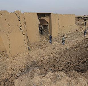 Il centro di Nimrud, a 30 km da Mosul, distrutto dall'ISIS