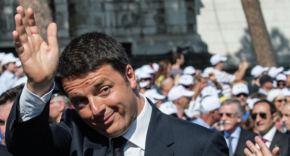 Il premier italiano Matteo Renzi