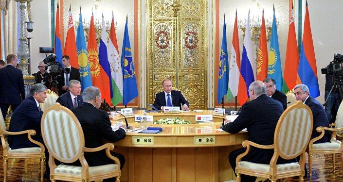 Una riunione dei capi di Stato dell'Unione Eurasiatica e del Trattato di Sicurezza Collettiva (CSTO) a Mosca
