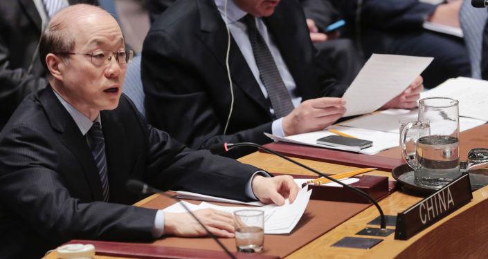 Il rappresentante permanente della Cina presso l'ONU Liu Jieyi