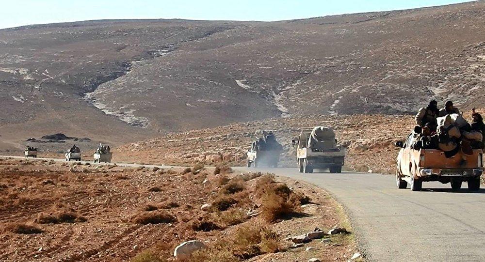 Mezzi e uomini del Daesh in direzione di Palmira