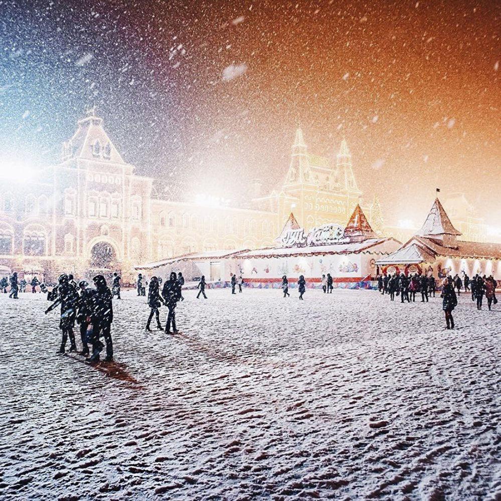 La gente sulla Piazza Rossa.