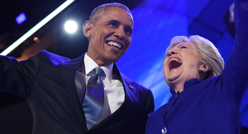 Barack Obama e Hillary Clinton