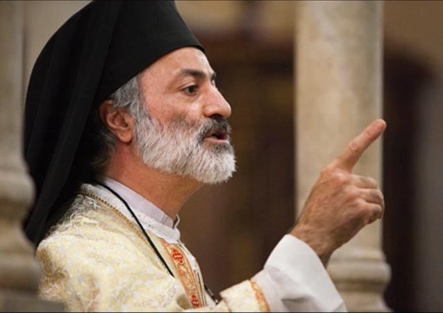 Padre Mtanios Haddad, siriano, archimandrita melchita, rettore della basilica di Santa Maria in Cosmedin a Roma.