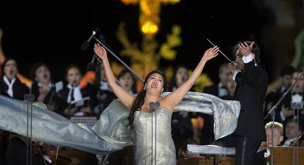 La soprano russa Anna Netrebko