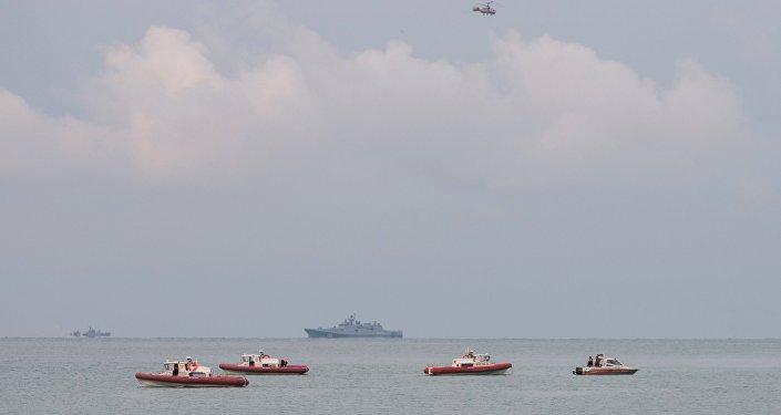 Una fase delle operazioni di ricerca del TU-154