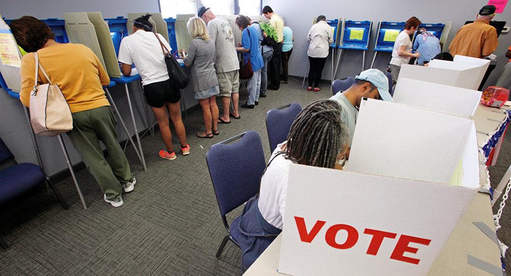 Voto in Carolina del Nord, USA.