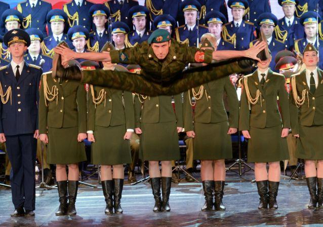 Il Coro Aleksandrov a Sochi.