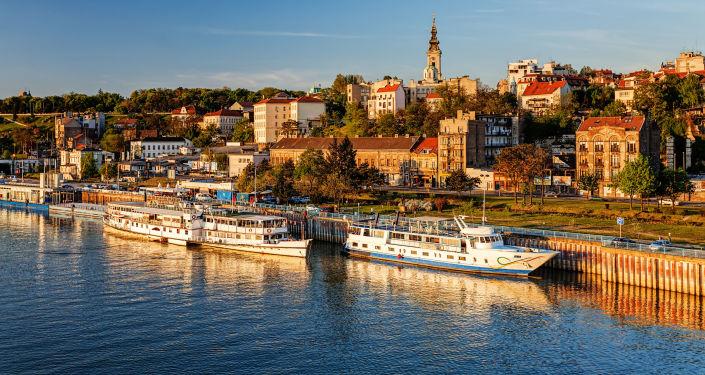 Una vista di Belgrado, Serbia