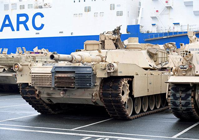 Tank USA nel porto tedesco di Bremerhaven