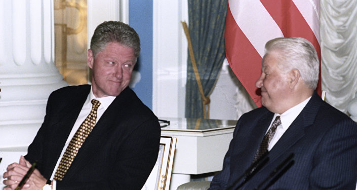 Bill Clinton e Boris Eltsin nel 1988