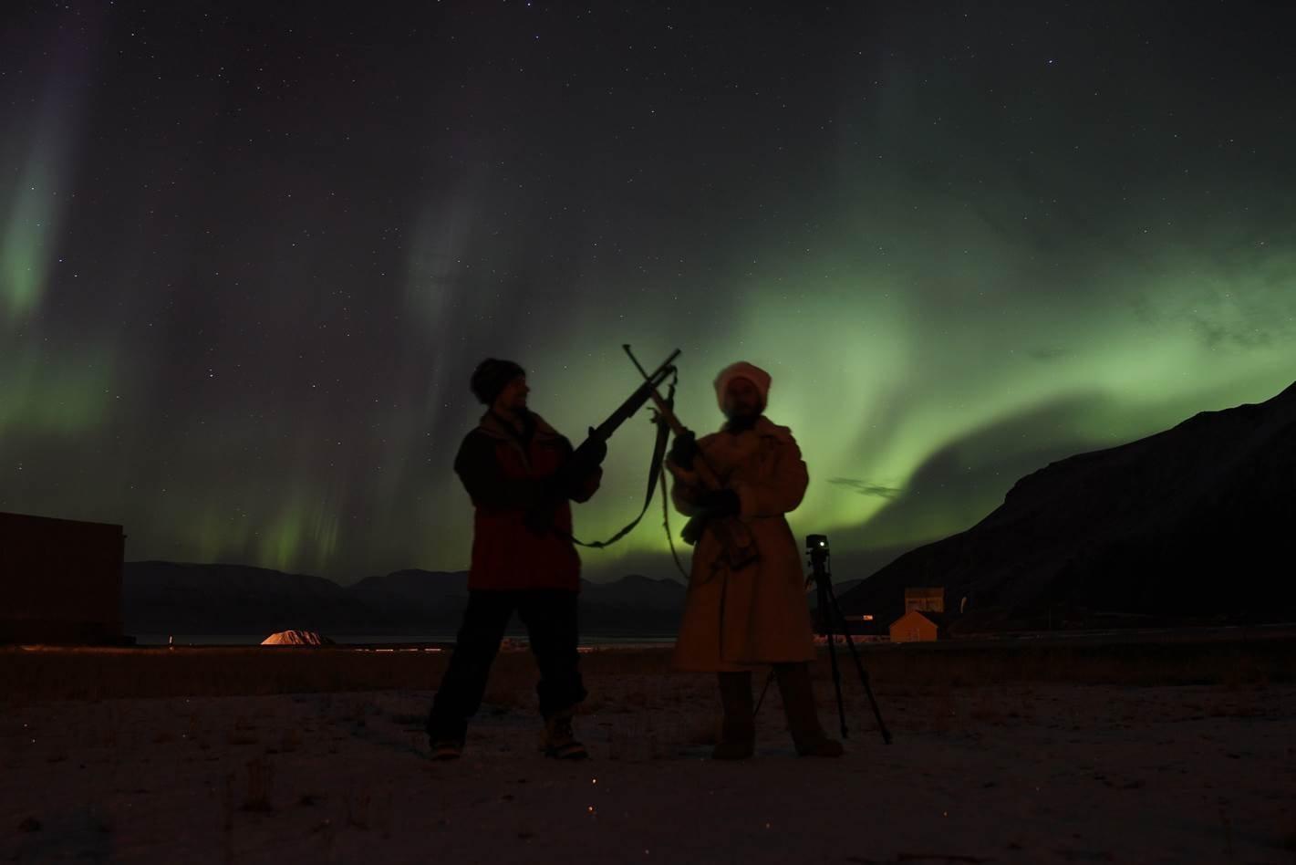 Aleksander Romanovskij su una delle isole dell'arcipelago Svalbard