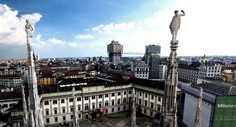 Milano, vista dal Duomo