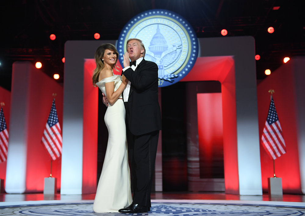 Il presidente degli USA Donald Trump e la first lady Melania Trump.