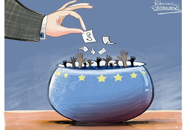 Migranti in Europa.