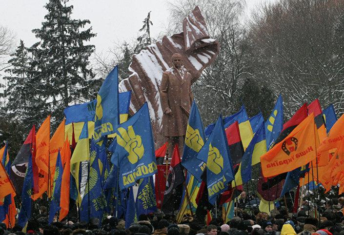 Monumento al padre del nazionalismo ucraino Stepan Bandera, Ternopil