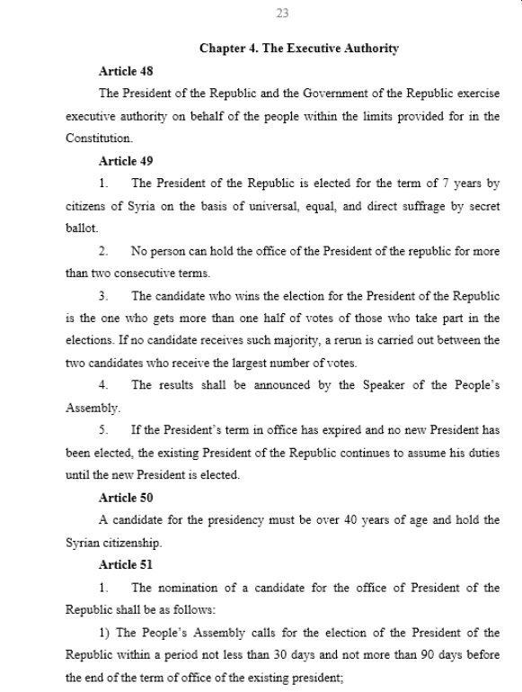 Progetto di Costituzione siriana, pagina 23