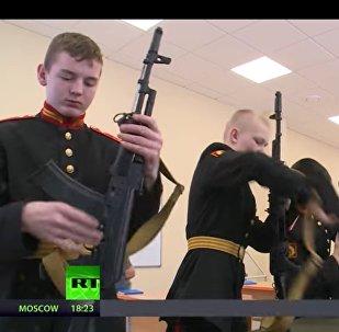 I cadetti della Scuola Militare Suvorov di Mosca