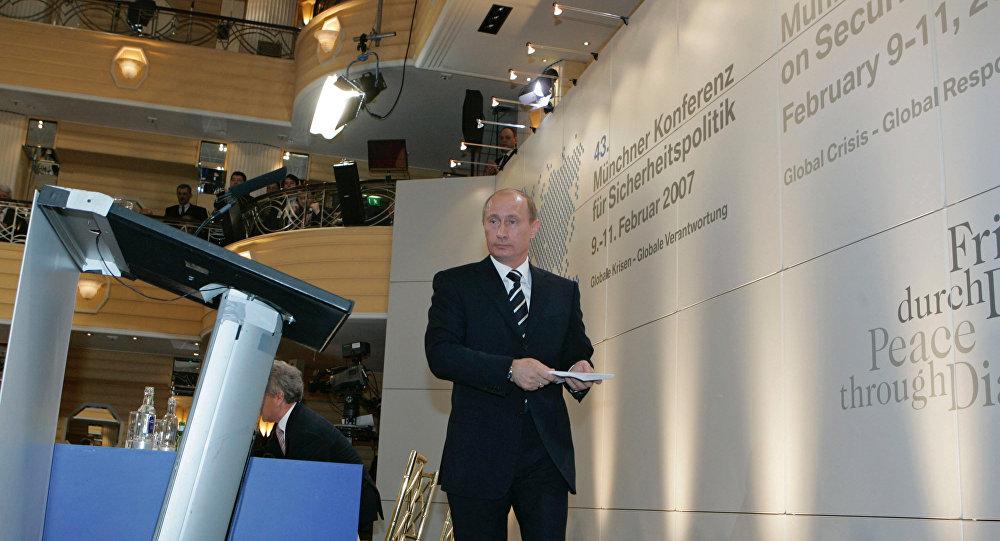 """Il discorso """"profetico"""" di Vladimir Putin a Monaco"""