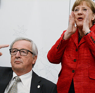 Angela Merkel e Jean Claude Juncker al summit europeo informale di Malta